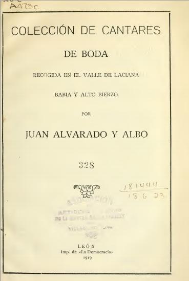 Juan Alvarado - Cantares de boda