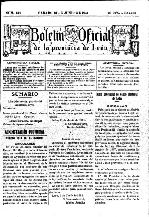BOPL 13 Junio 1931